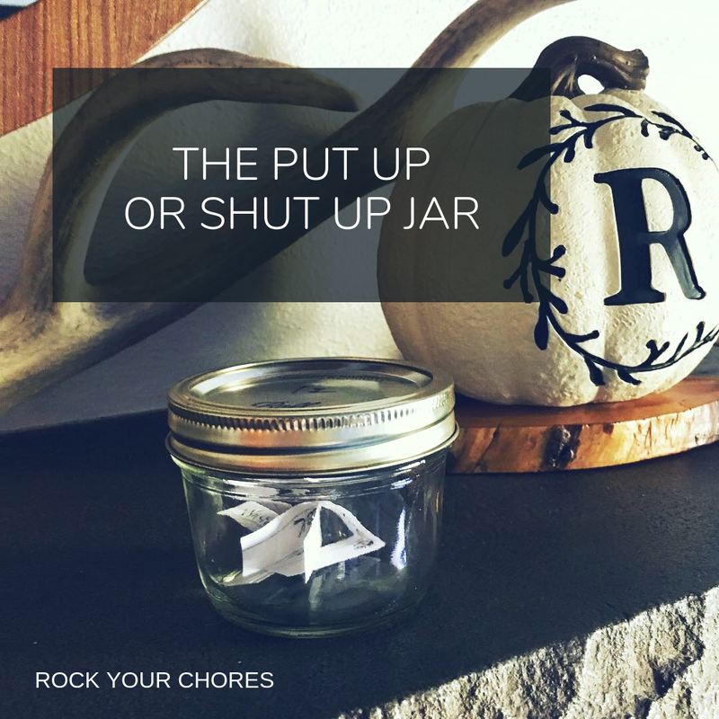 The put up or shut up jar chores game promo image