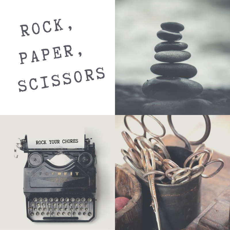 Rock, paper, scissors chores game promo image